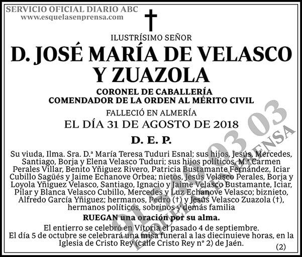 José María de Velasco y Zuazola